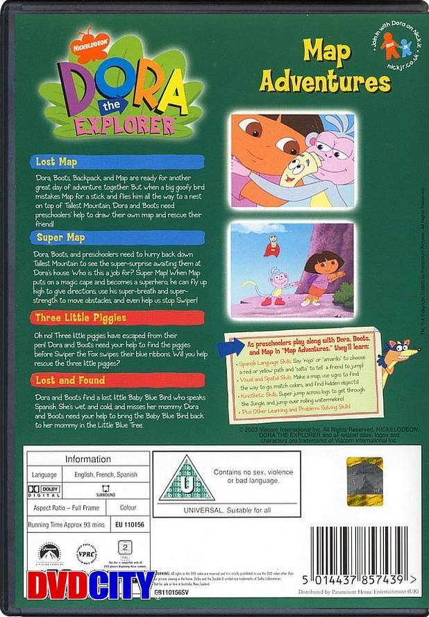 Dora The Explorer: Map Adventures - dvdcity.dk Dora The Explorer Map Adventures Dvd on