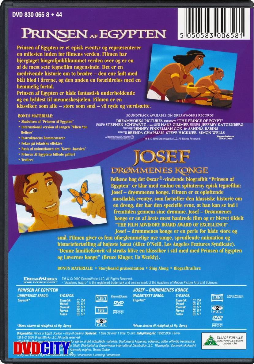 prinsen af egypten aldersgrænse