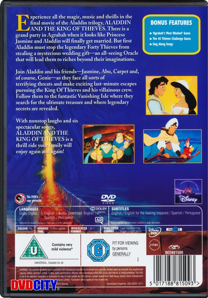 Aladdin Og De Fyrretyve Røvere Nr 3 1996 Dvdcitydk