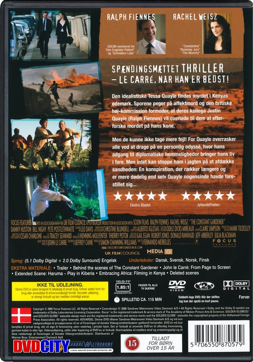 constant gardener film essay The constant gardener is a 2005 political thriller film directed by fernando meirelles the screenplay by jeffrey caine is based on the novel of the same nam.