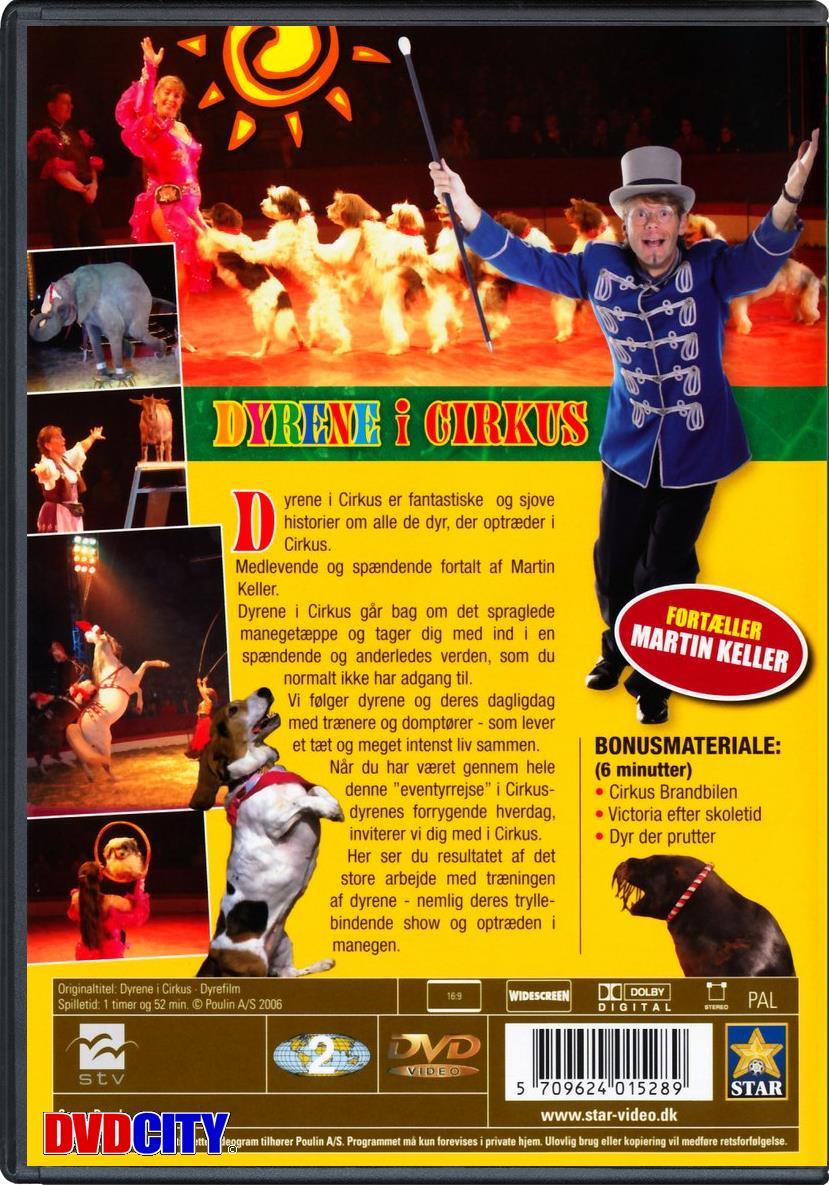 dyrene i cirkus dvd