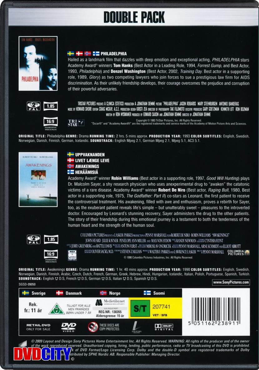 b5aa1ec1068d Philadelphia   Awakenings (Double Pack) - dvdcity.dk
