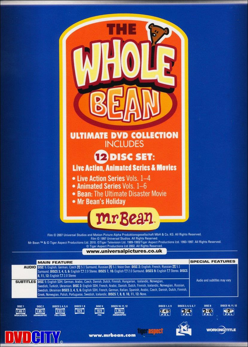 Mr Bean The Whole Bean Complete Collection Dvdcitydk